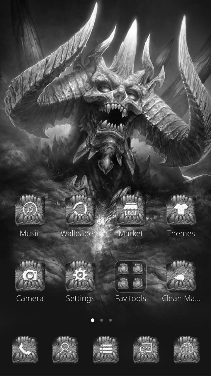 Dragon skull black and white background ferocious poster