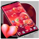 Красная сердечная тема любви APK