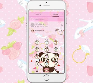Pink Panda Lock Screen Theme Screenshot 2