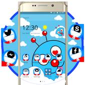 Blue Cute Cartoon Theme icon