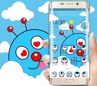 Blue Cute Cartoon Theme poster