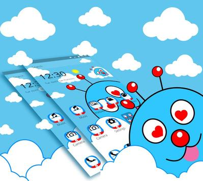 Blue Cute Cartoon Theme screenshot 2