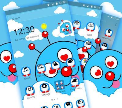 Blue Cute Cartoon Theme screenshot 3