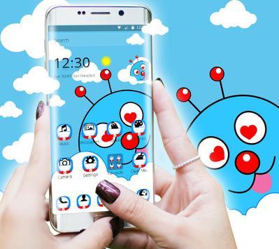 Blue Cute Cartoon Theme screenshot 4