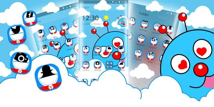 Blue Cute Cartoon Theme screenshot 5