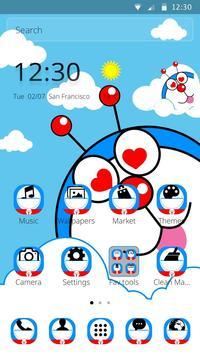 Blue Cute Cartoon Theme screenshot 6