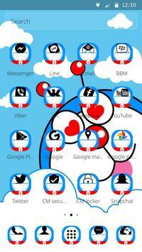 Blue Cute Cartoon Theme screenshot 7