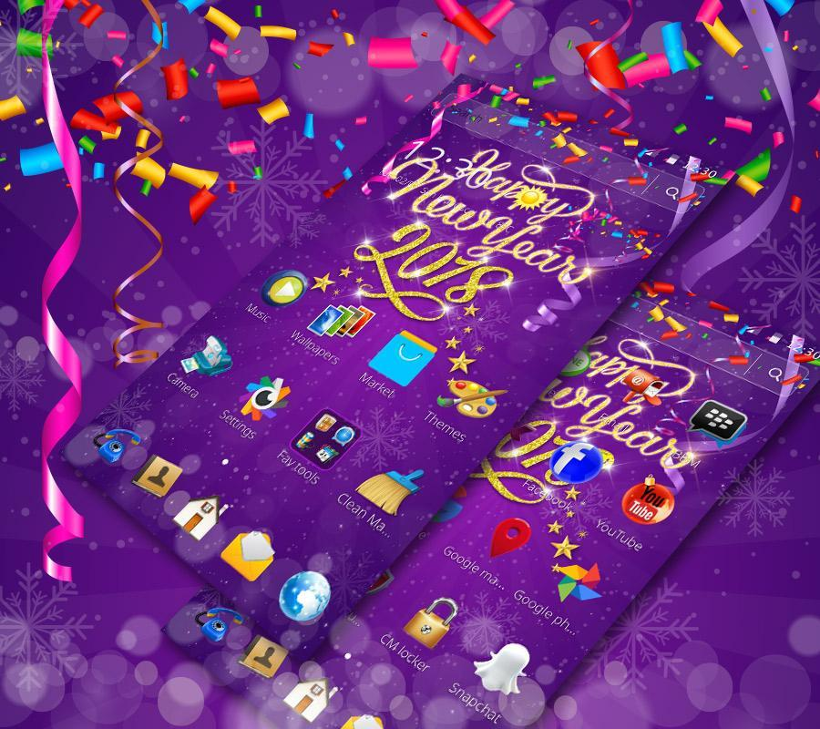 happy new year 2018 theme poster happy new year 2018 theme screenshot 1