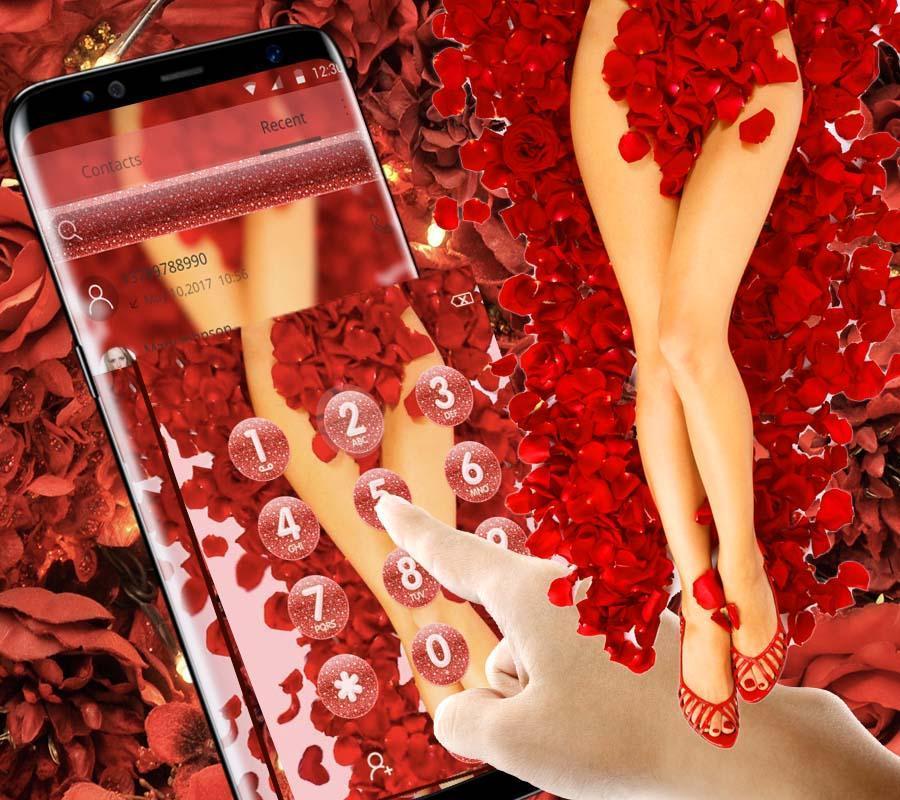 sex goddess theme tempting red