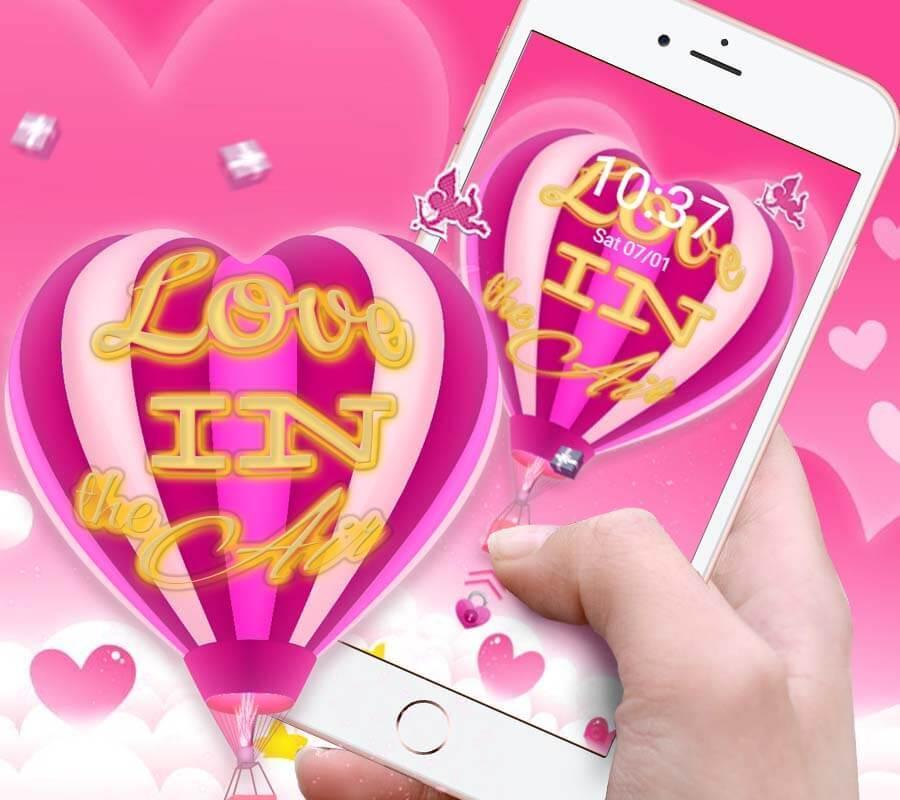 Cute Pink Balloon Theme DIY Wallpaper Poster