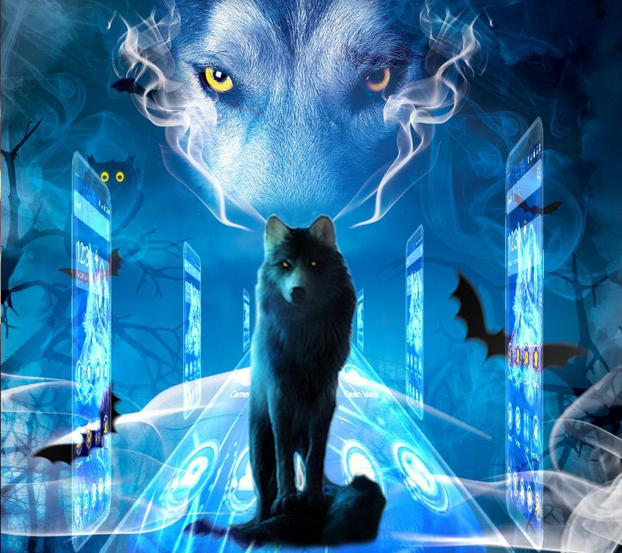 Blue Wolf Theme Blue Wallpaper For Android Apk Download