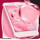 Розовый блестящий кристалл Apple Theme APK