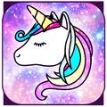 Galaxy Unicorn Shiny Glitter Theme