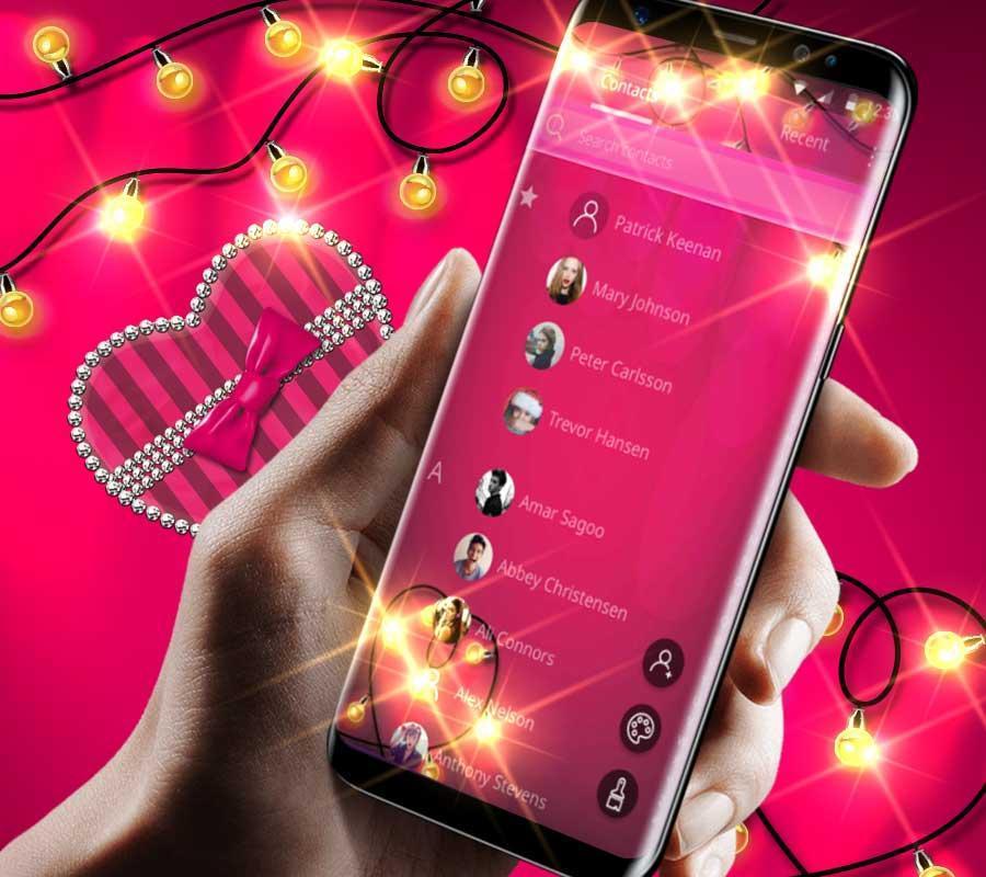 Beautiful Pink Love Gift Theme Beautiful Wallpaper For