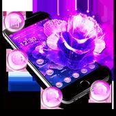 Purple Fantasy Rose Theme icon