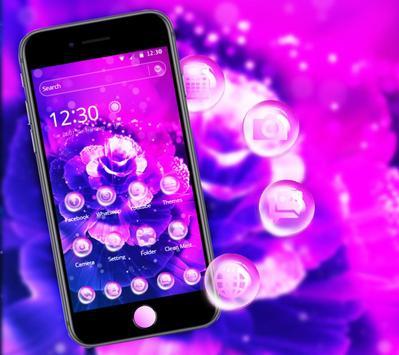 Purple Fantasy Rose Theme poster