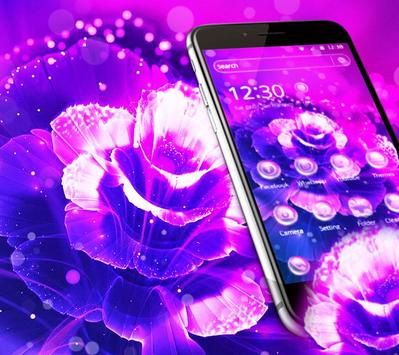 Purple Fantasy Rose Theme screenshot 1