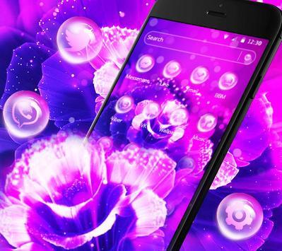 Purple Fantasy Rose Theme screenshot 2