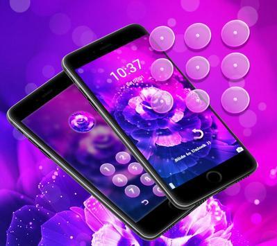 Purple Fantasy Rose Theme apk screenshot
