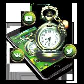 Green Vintage Clock Theme icon