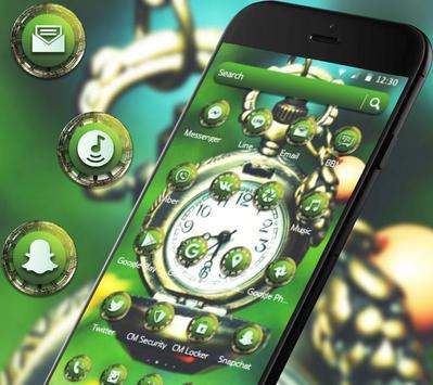 Green Vintage Clock Theme screenshot 1
