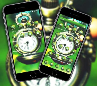 Green Vintage Clock Theme screenshot 2