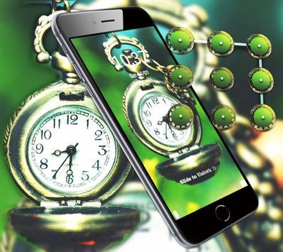 Green Vintage Clock Theme screenshot 3