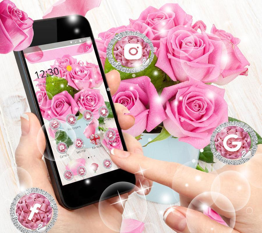 Pink Rose Fresh Theme 3d Red Flowers Wallpapers For Android Apk