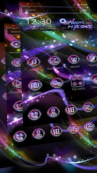 Neon Magic theme screenshot 4