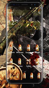 Camo Gun & Bullet Theme poster