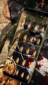 Camo Gun & Bullet Theme screenshot 2