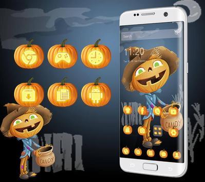 Lovely Halloween Pumpkin Theme apk screenshot