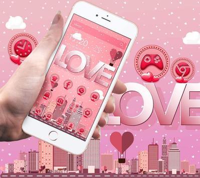Pink romantic love poster