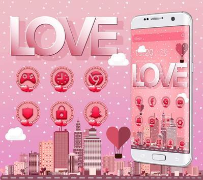 Pink romantic love screenshot 2