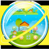 Beautiful Bubble World Theme icon