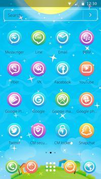 Beautiful Bubble World Theme screenshot 4