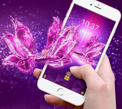 The Crystal Flower Theme apk screenshot