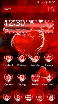 Love Heart Droplet Theme apk screenshot