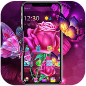 Pink luxury sexy rose theme wallpaper icon