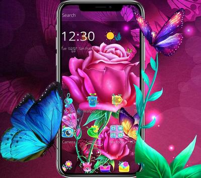 Pink luxury sexy rose theme wallpaper poster