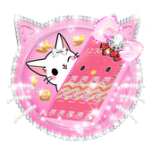 Pink Gold Cute Kitty Bow Theme icon
