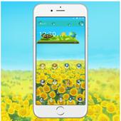 Green Sunshine Sunflower Theme icon