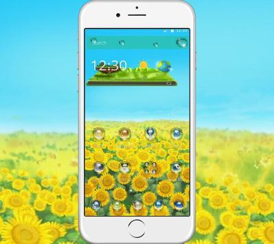 Green Sunshine Sunflower Theme poster