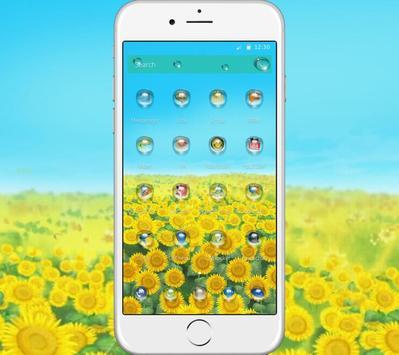 Green Sunshine Sunflower Theme screenshot 1