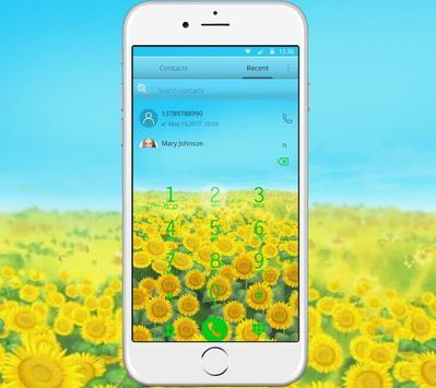 Green Sunshine Sunflower Theme screenshot 3
