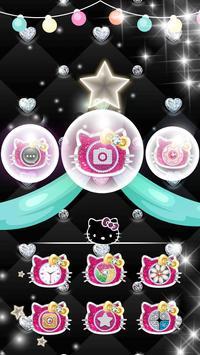 Pink Black Glitter Kitty Bowknot Theme poster
