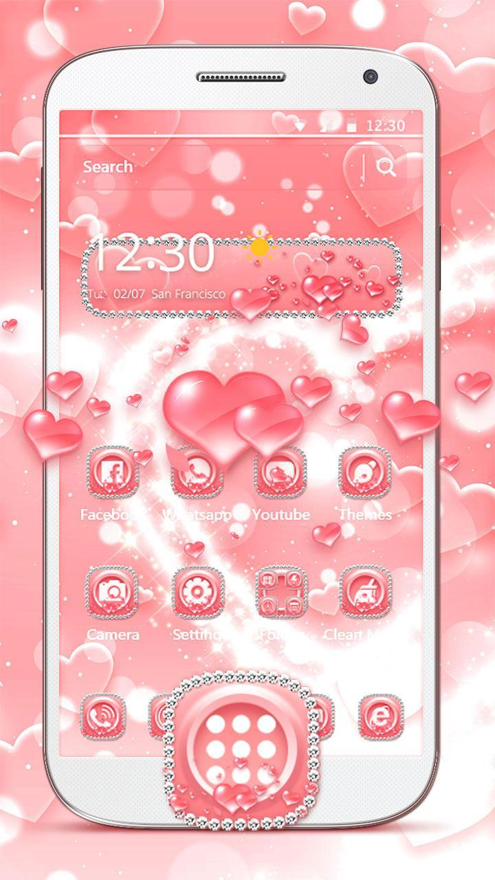 Glitter Love Heart Diamond Theme for Android - APK Download