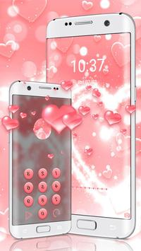 Glitter Love Heart Diamond Theme apk screenshot
