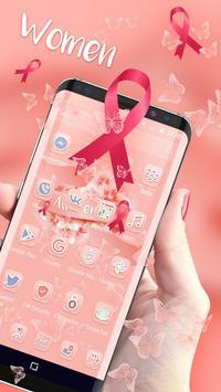 Pink Ribbon Awareness Theme - Breast Cancer screenshot 2