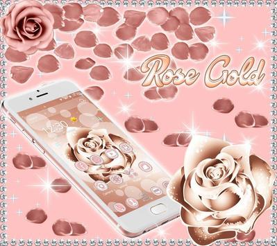 Beautiful Rose Gold Theme poster
